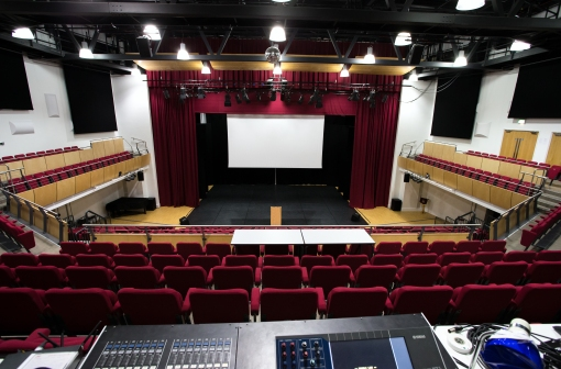 Bromley Hall - from back of circle, portable sound/lighting desk.