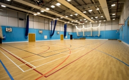 Sports Hall - with markings for all major indoor games.