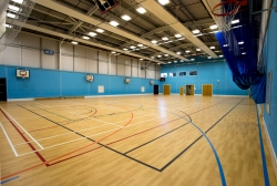 Sports Hall - 4-badminton court size.